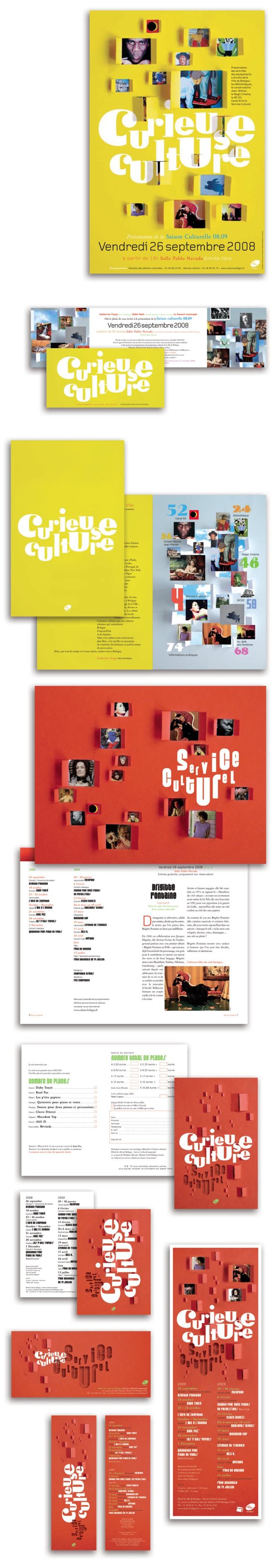 Affiche 80 x 120 • Invitation • Programme 90 pages 130 x 200 • Papeterie • Cartes • Annonce presse