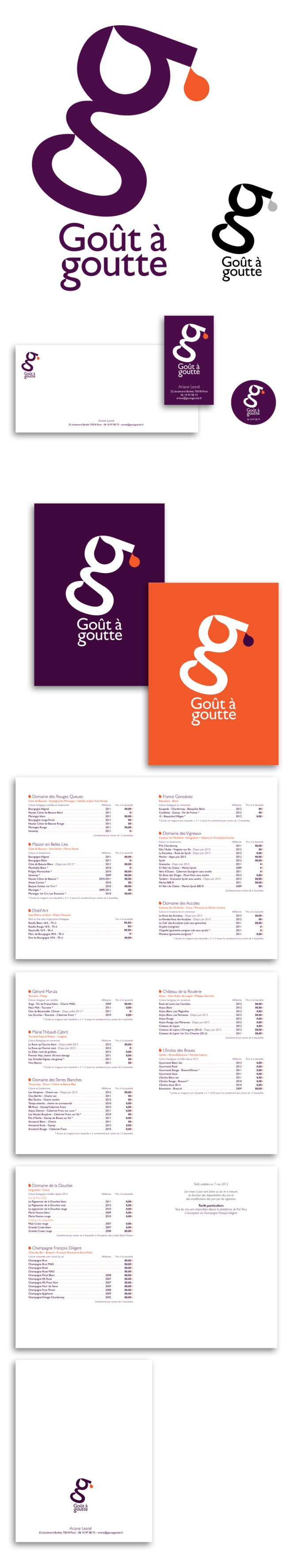 Logotype • Papeterie • Autocollant • 8 pages