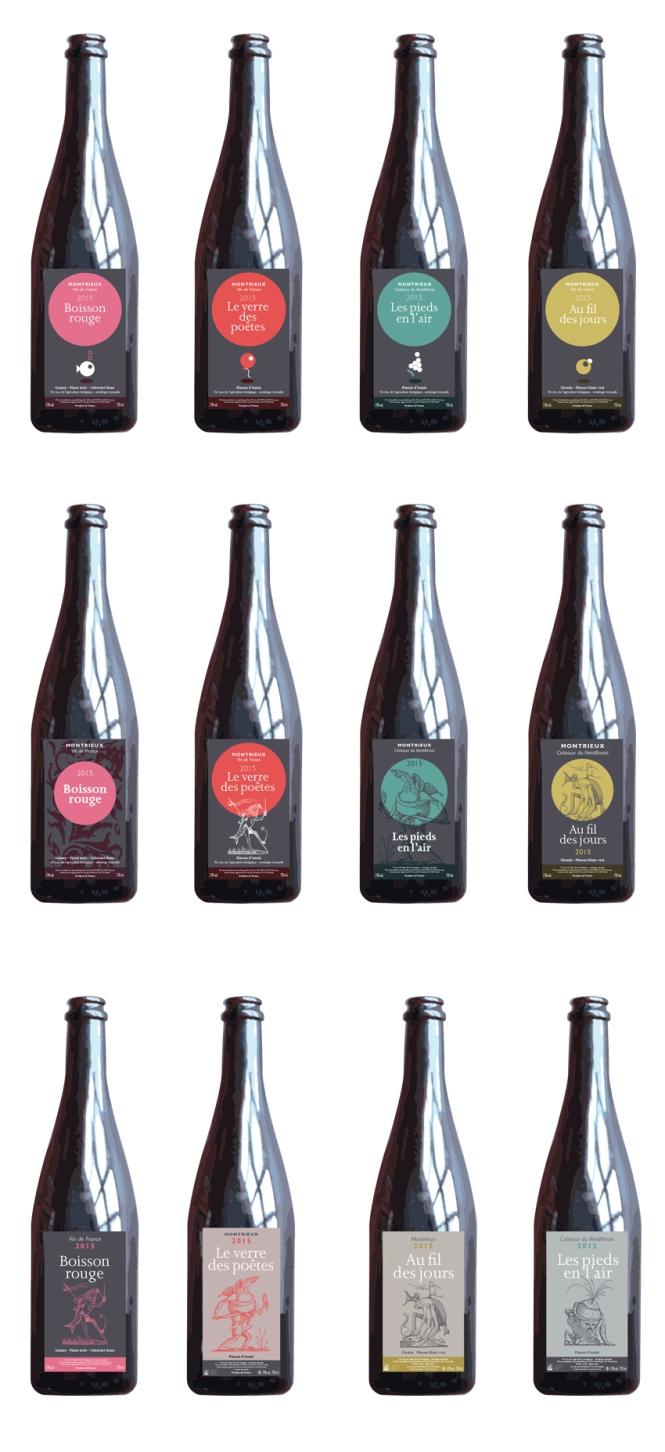 Premières propositions avec notamment les noms de vins d'origine.