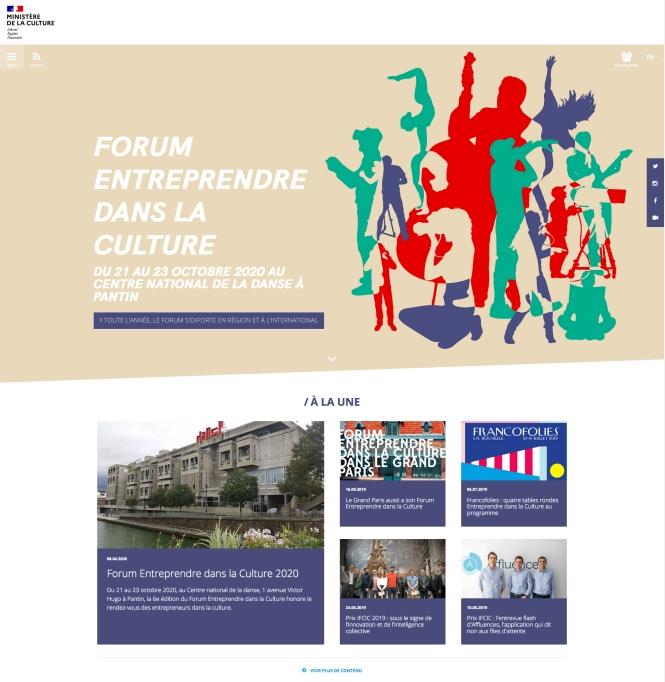 Entreprendre dans la culture 2020-Site